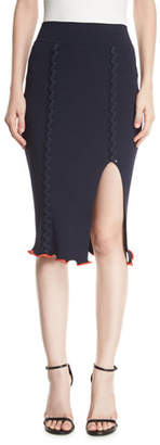 Opening Ceremony Crisscross Rib-Knit Pencil Skirt