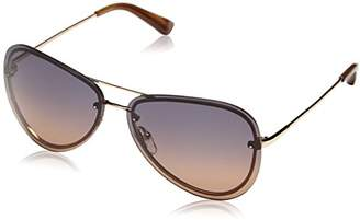 Calvin Klein Men's CK7487 Aviator Sunglasses, 025 Gradient Yellow/Brown
