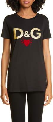 Dolce & Gabbana Heart Graphic Tee