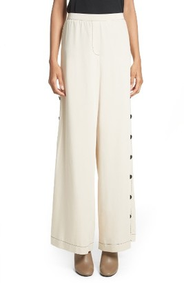 Women's Tracy Reese Side Button Wide Leg Pants $298 thestylecure.com