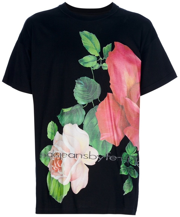 Gianfranco Ferre Oaks By Vintage floral t-shirt