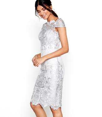 Lipsy Chi Chi London - Grey Lace 'Lossy' Pencil Dress