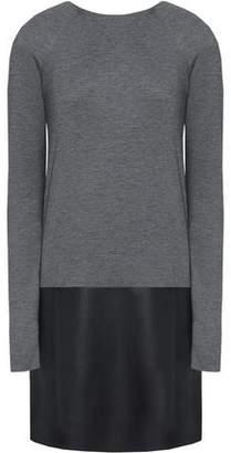 Bailey 44 Faux Leather-Paneled Jersey Mini Dress