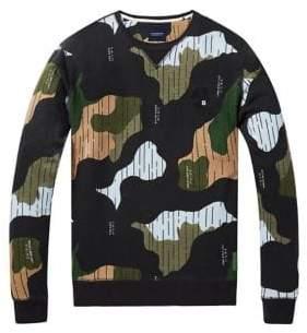 Scotch & Soda Camouflage Cotton Sweater