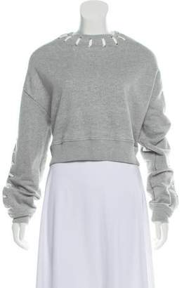 Jonathan Simkhai Medium-Weight Lace-Up Sweatshirt