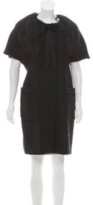 Marni Cap Sleeve Wool Coat