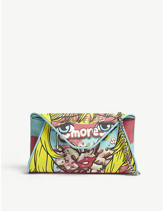 Moschino S'mores leather envelope clutch