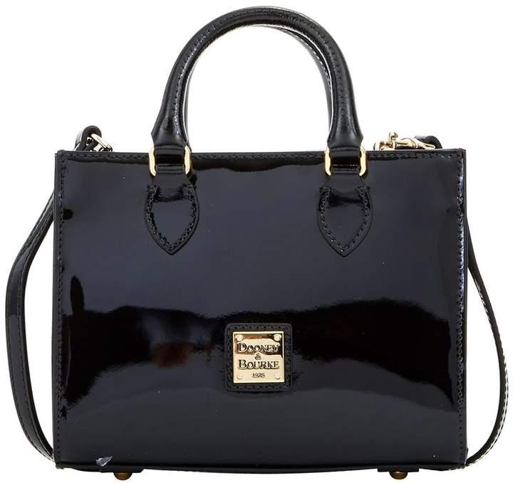 Dooney & Bourke Patent Mini Janine Satchel - BLACK - STYLE
