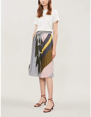 Ted Baker Mockable contrast-skirt cotton-jersey and crepe dress
