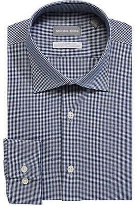MICHAEL Michael Kors Chequered Stretch Slim-Fit Dress Shirt