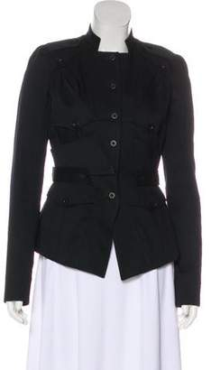 Givenchy Mock Collar Button-Up Jacket