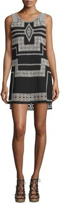 Parker Ashton Sleeveless Shift Dress, Black $458 thestylecure.com