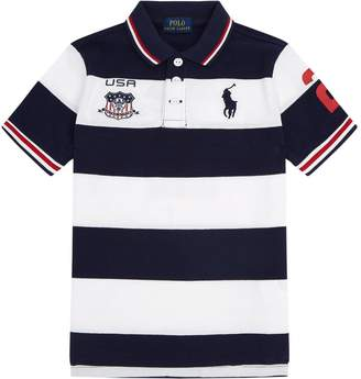Polo Ralph Lauren USA Stripe Polo Shirt