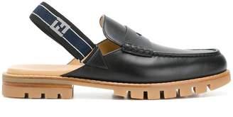 Fendi slingback strap loafers