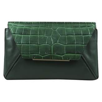Lanvin Green Leather Clutch Bag