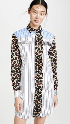 MSGM Mixed Print Shirtdress
