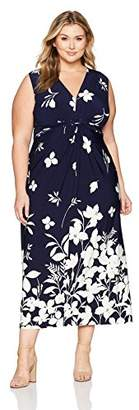 Eliza J Women's Plus Size Maxi Dress with Knot Front