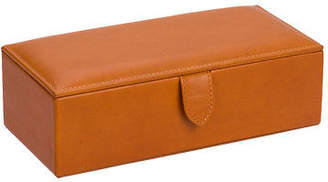 NEW Redd Leather Natural Milled Watch Box Cognac Tan