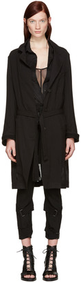 Ann Demeulemeester Black Sheer Coat $1,855 thestylecure.com