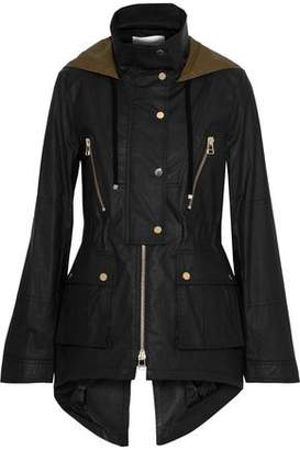 Veronica Beard King Coated Cotton-Blend Hooded Jacket
