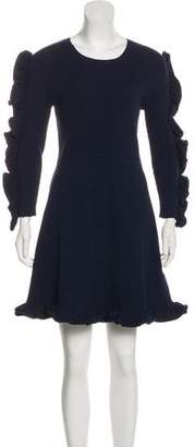 Victoria Beckham Victoria Long Sleeve Knee-Length Dress