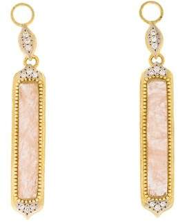 Jude Frances 18K Diamond & Morganite Delicate Moroccan Earring Enhancers
