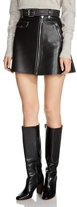 Maje Jouki Leather Mini Skirt