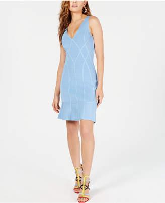 GUESS Flounce-Hem Bodycon Dress