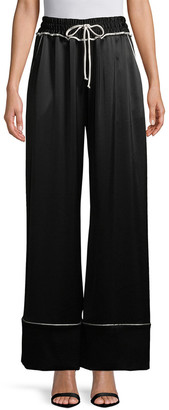 Off-White OFF WHITE Off White Contrast Piping Drawstring Pant