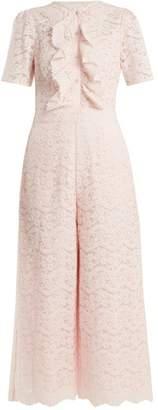 Temperley London - Lunar Floral Lace Cotton Blend Jumpsuit - Womens - Light Pink