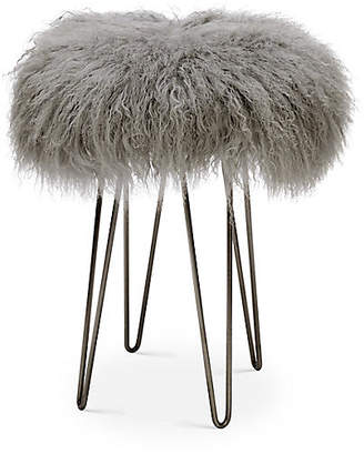 Le-Coterie Curly Hairpin Counter Stool - Silver/Gray