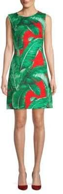 Dolce & Gabbana Leaf-Print Cotton Silk Dress