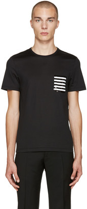 Burberry Black Sequin Pocket T-Shirt $395 thestylecure.com