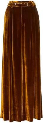 Marques Almeida Marques'almeida Wide Leg Velvet Trousers