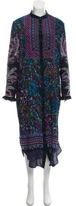 Saloni Long Sleeve Maxi Dress