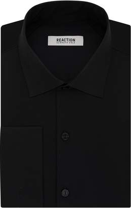 Kenneth Cole Reaction Men's Technicole Slim Fit Stretch Solid French Cuff Spread Collar Dress Shirt