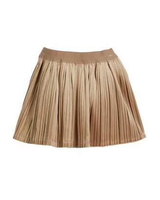 Mayoral Pleated Velvet Skirt, Size 3-7
