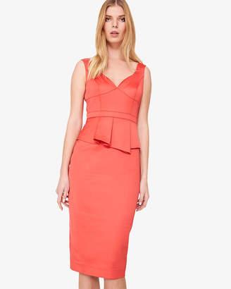 36c286a86b Phase Eight Sienna Satin Peplum Dress