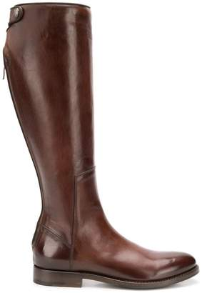 Alberto Fasciani zip-up high boots