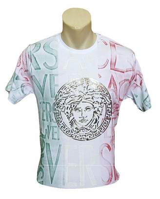 Versace Dear Garden Men's Crew Neck Regular Fit T-Shirt (M)