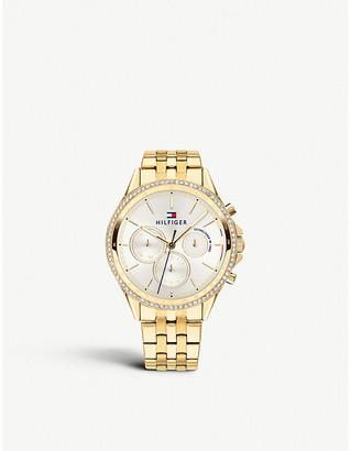 Tommy Hilfiger Chronograph gold-tone bracelet watch
