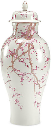"Chelsea House 20"" Slender Temple Jar - Pink/White"