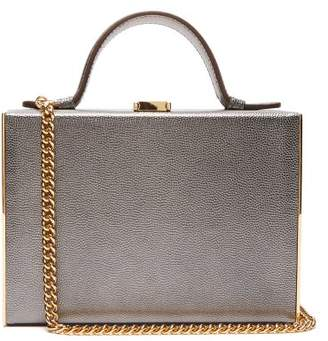 Mark Cross Rear Window Mini Leather Overnight Case - Womens - Silver
