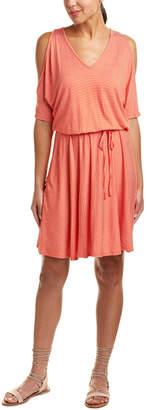 Three Dots Cold-Shoulder A-Line Dress