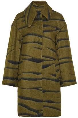 Jil Sander Brushed Jacquard Wool-Blend Coat