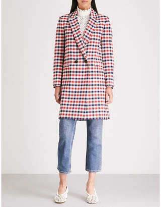 Claudie Pierlot Glossy checked woven coat