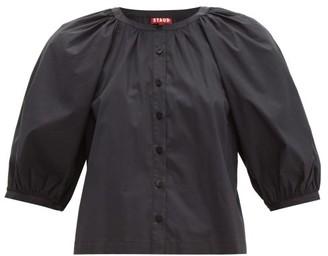 265e56c60c5 STAUD Blouson Sleeve Cotton Blend Top - Womens - Black