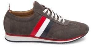 Thom Browne Side-Stripe Suede Sneakers