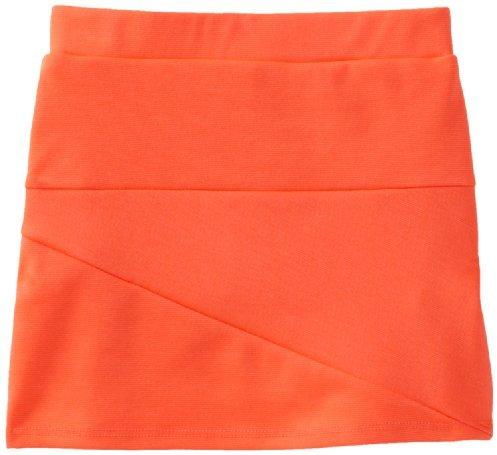 Amy Byer Girls 2-6X Neon Asymmetrical Seamed Skirt And Short