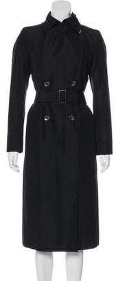 Gucci Silk Double-Breasted Coat